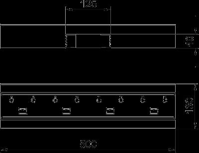 Схема Т-образная секция для кабельного короба высотой 70 мм — арт.: 6277260
