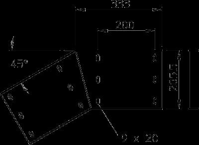 Схема Угловой соединитель 45° вертикальный — арт.: 6232663