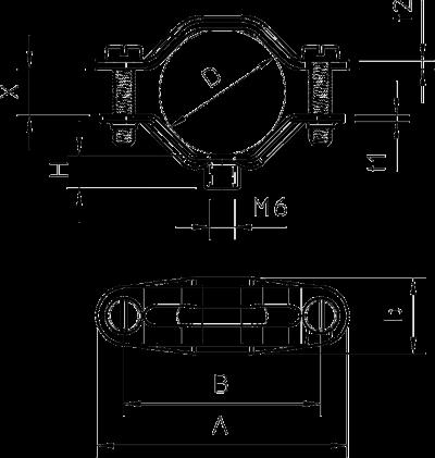 Схема Винтовая дистанционная скоба, универсальная — арт.: 1380028