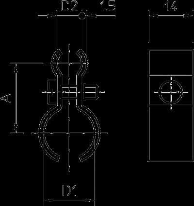 Схема Тросовый зажим для подвеса на трос — арт.: 1404164