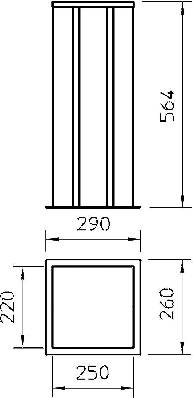 Схема Алюминиевая электромонтажная колонна ISSHS6 — арт.: 6290073