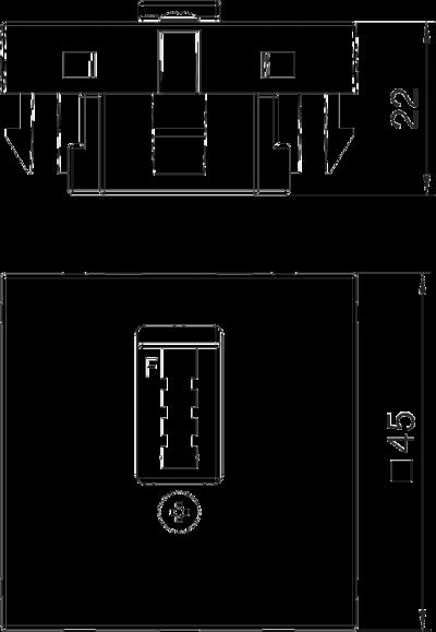Схема Телефонная розетка TAE, ширина 1 модуль, исполнение F — арт.: 6117428