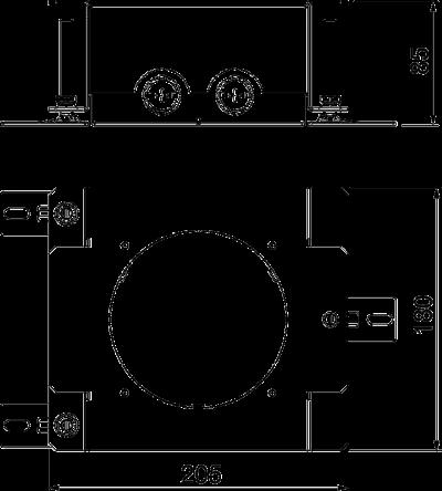 Схема Монтажное основание для лючков GES R2 — арт.: 7428526