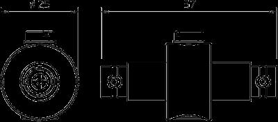 Схема Коаксиальное устройство защиты для разъема BNC: штекер/розетка — арт.: 5093260
