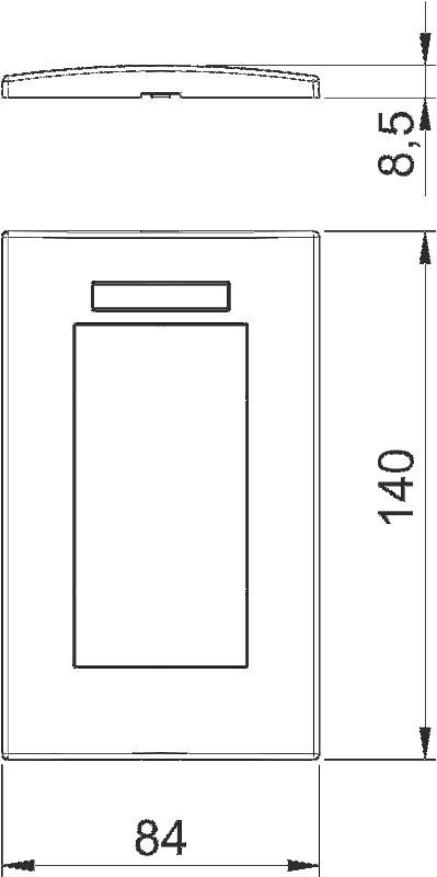 Схема Рамка AR45 двойная, с полем для надписи, для вертикальной установки устройств — арт.: 6119362