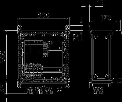 Схема Системное решение для защиты преобразователей фотогальванических установок, в корпусе, с 2 треккерами MPP, с разрядниками типа 2, 1000 В постоянного т — арт.: 5088646