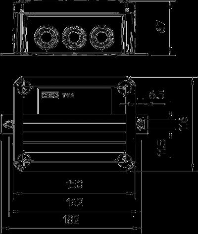 Схема Огнестойкая распределительная коробка FireBox T-100 ED с наружным креплением — арт.: 7205540