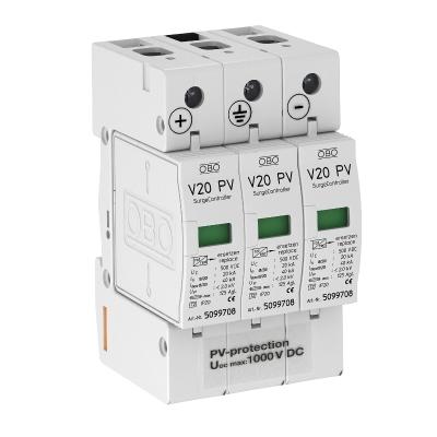 Разрядник для защиты от перенапряжений V20 для фотогальванических установок, 1000 В постоянного тока — арт.: 5094608