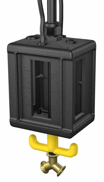 Блок питания VHF-8, пустой, с соединением для пневматического рукава — арт.: 6109827