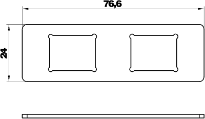 Схема Суппорт для 2х телекоммуникационных модулей типа С — арт.: 7408705