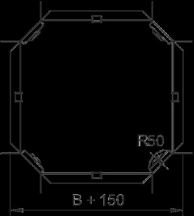 Схема Крестообразная секция 100-300 мм — арт.: 7004648