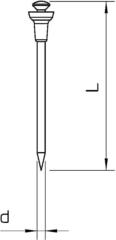 Схема Стальной гвоздь Siko — арт.: 3366111