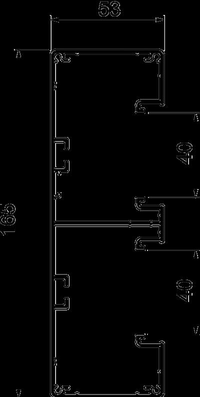 Схема Алюминиевый кабельный короб Rapid 45-2, GA-53165 — арт.: 6112603