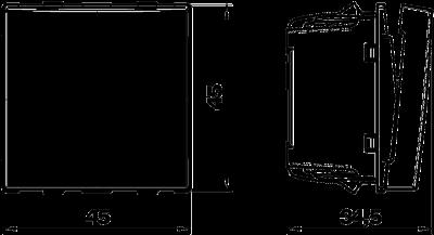 Схема Выключатель со светодиодным элементом, ширина 1/2 модуля — арт.: 6117644