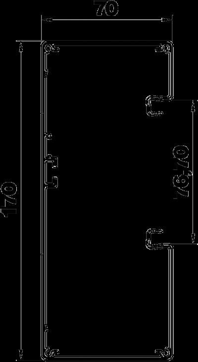 Схема Алюминиевый кабельный короб Rapid 80 высотой 70 мм — арт.: 6279403