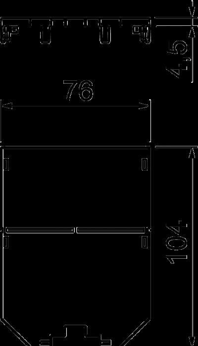 Схема Накладка для универсальной монтажной коробки UT3, глухая — арт.: 7408745