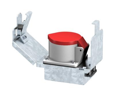 Монтажная рамка для установки силовой розетки CEE, системная длина 165 мм, с розеткой — арт.: 7407663