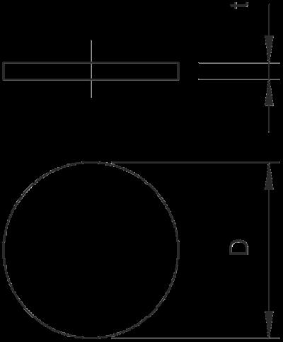 Схема Пылезащитные пластинки, метрические — арт.: 2028870