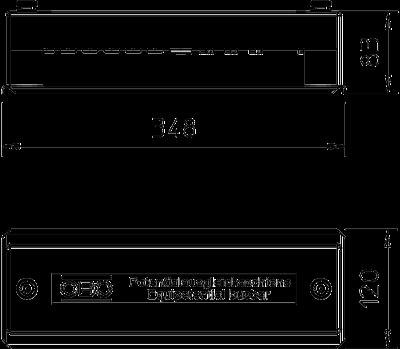 Схема Шина уравнивания потенциалов для наружного монтажа, со стальной крышкой — арт.: 5015057