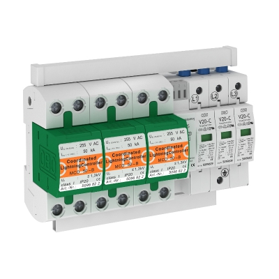 Комплект защиты MCD + V20 3-полюсный, с дистанционной сигнализацией — арт.: 5089756