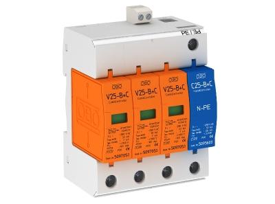 Комбинированный разрядник 3-полюсный + NPE, с дистанционной сигнализацией — арт.: 5094510