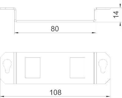 Схема Суппорт для 2х телекоммуникационных модулей типа А — арт.: 7407841