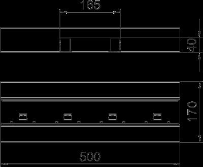 Схема Т-образная секция для кабельного короба высотой 70 мм — арт.: 6277660