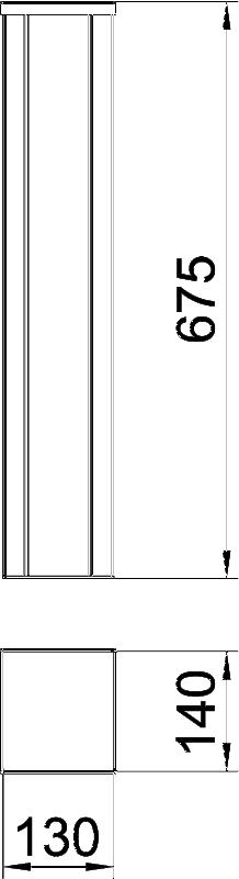 Схема Алюминиевая электромонтажная колонна ISSHS140700 — арт.: 6290040