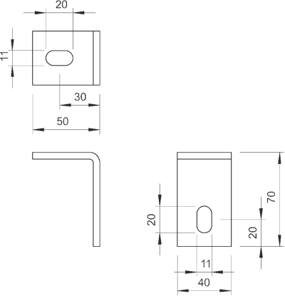 Схема Крепежный угол BW 70 — арт.: 6019706