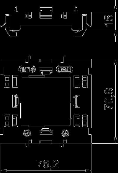 Схема Монтажная рамка одинарная Modul 45® — арт.: 6288572