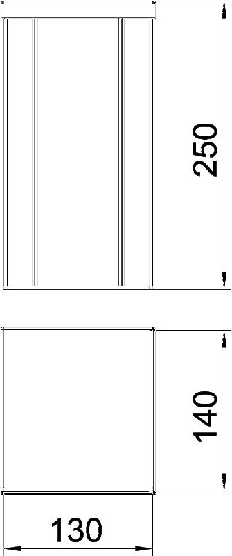 Схема Алюминиевая электромонтажная колонна ISSHS140250 — арт.: 6290020