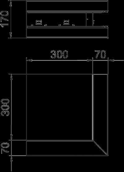 Схема Внешний угол для кабельного короба высотой 70 мм — арт.: 6277610