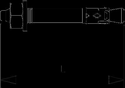 Схема Анкерный гвоздь N с резьбой — арт.: 3498399