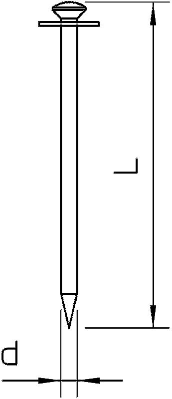 Схема Стальной гвоздь Impu, оцинкованный, с шайбой из вулканизированной фибры — арт.: 3361128