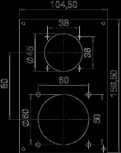 Схема Плата VHF для 1 навесной розетки ASD и 1 розетки CEE — арт.: 6109858
