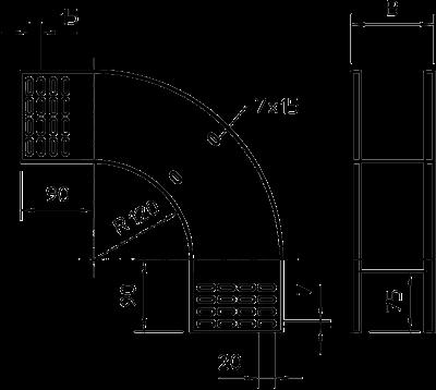 Схема Вертикальная угловая секция 90° нисходящая — арт.: 7007350