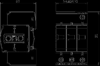 Схема Разрядник для защиты от перенапряжений 3-полюсный — арт.: 5094680