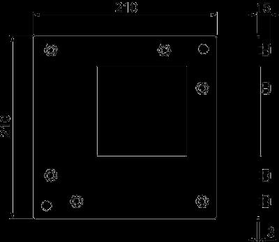 Схема Пластина для плоского угла — арт.: 7216335