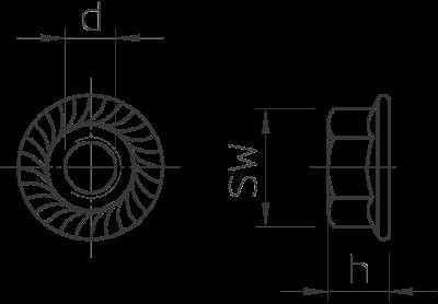 Схема Комбинированная гайка — арт.: 6408966