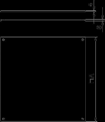 Схема Заглушка влагозащитная для монтажного основания UZD250-4 — арт.: 7400589