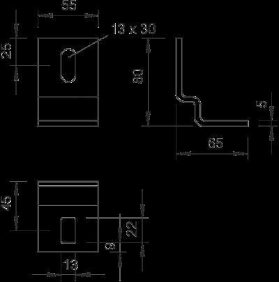 Схема Крепежный угол — арт.: 6019528