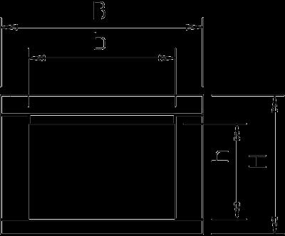 Схема Огнестойкий кабельный канал, класс огнестойкости I90/E30, внутренняя высота 105 мм — арт.: 7215162
