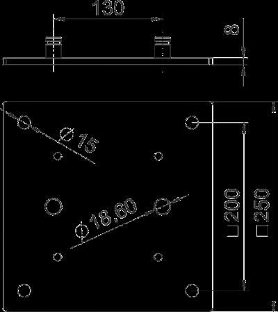Схема Напольная пластина для промышленной электромонтажной колонны — арт.: 6290416