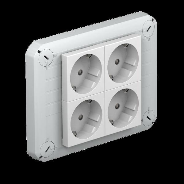 Крышка для распределительной коробки Т-100 с 4 розетками Modul-45 — арт.: 2007829