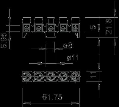 Схема Клеммная колодка для распределительных коробок А-серии — арт.: 2017342