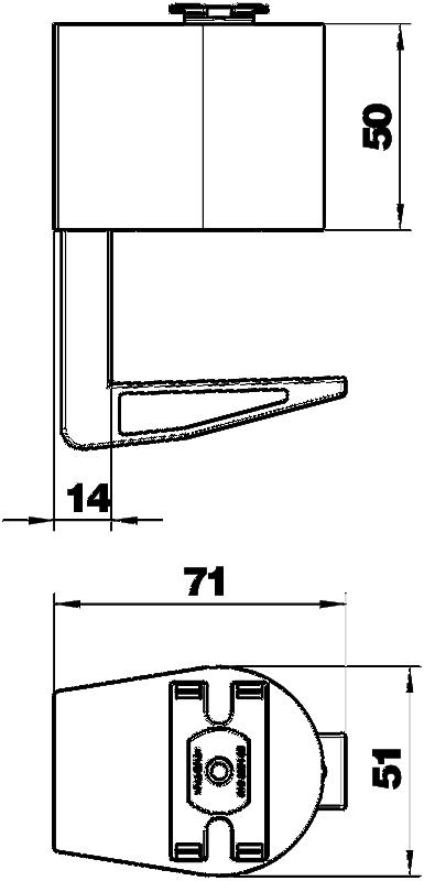 Схема Крепежный зажим для настольных боксов DB — арт.: 6116976