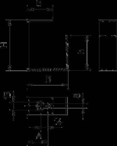 Схема Дистанционная скоба для потолочного монтажа — арт.: 7215356