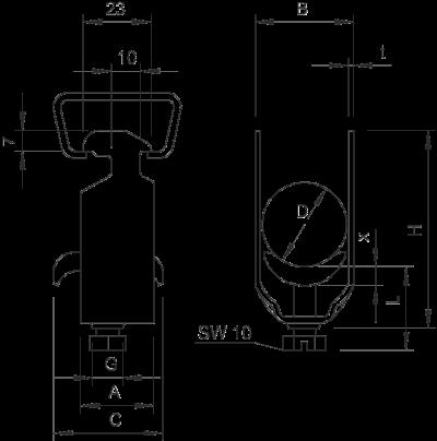 Схема Зажимная скоба BBS — арт.: 1159712