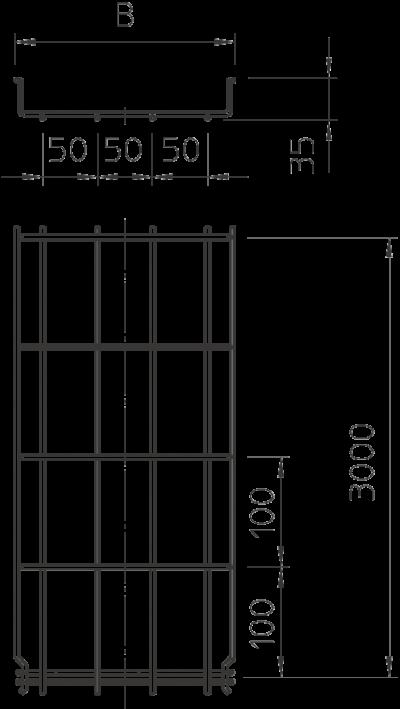 Схема Проволочный лоток GR-Magic° 35 — арт.: 6000054