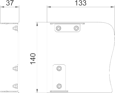 Схема Торцевая заглушка Swing правая — арт.: 6115925